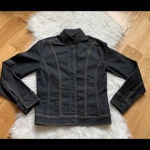 Tristan & Iseut Denim multi black jacket size XS
